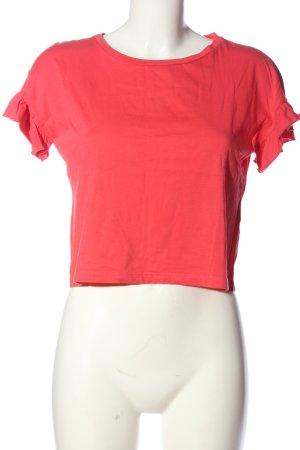 Zara Cropped shirt rood casual uitstraling