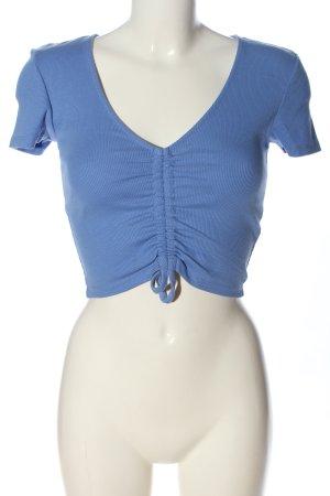 Zara Camicia cropped blu stile casual