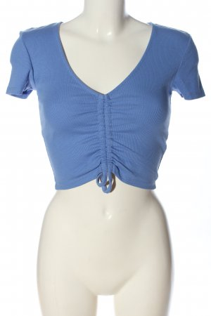 Zara Cropped Shirt blau Casual-Look