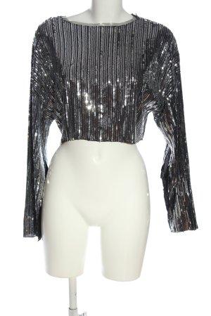 Zara T-shirt court argenté élégant