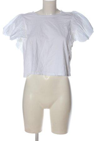 Zara Koszula o skróconym kroju biały W stylu casual