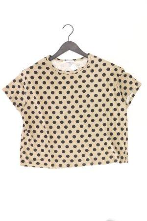 Zara Cropped Shirt Größe M gepunktet Kurzarm olivgrün