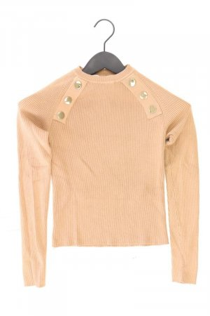 Zara Cropped Shirt Größe M Langarm braun aus Viskose