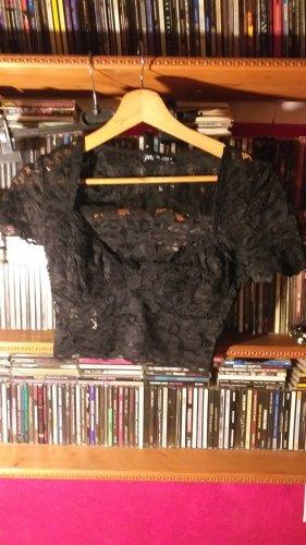 Zara Top di merletto nero