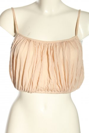 Zara Cropped Top nude Allover-Druck Casual-Look