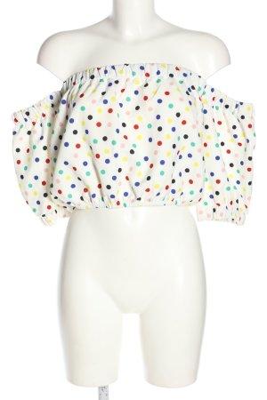Zara Cropped Top Punktemuster Casual-Look