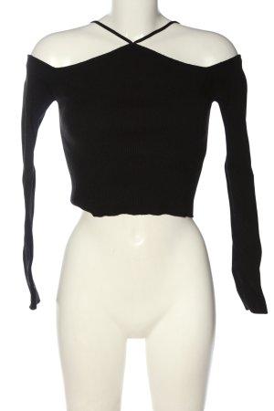 Zara Cropped Top schwarz Casual-Look