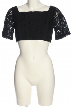 Zara Cropped Top schwarz Casual-Look
