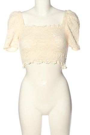 Zara Cropped Top creme Elegant