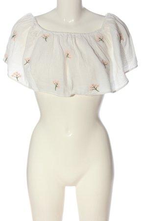 Zara Cropped Top Blumenmuster Casual-Look