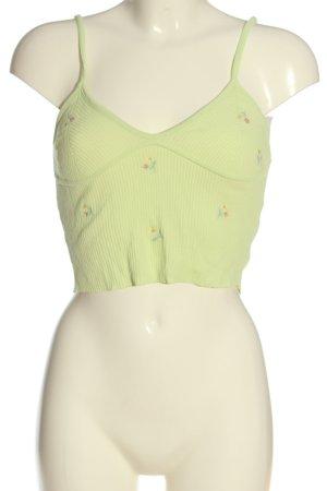 Zara Cropped Top grün Casual-Look