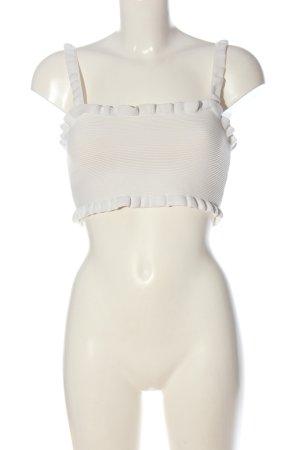 Zara Top o skróconym kroju biały W stylu casual