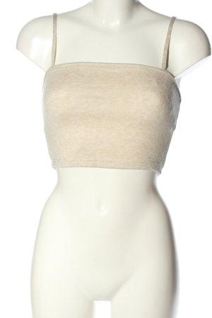Zara Top o skróconym kroju w kolorze białej wełny Melanżowy W stylu casual