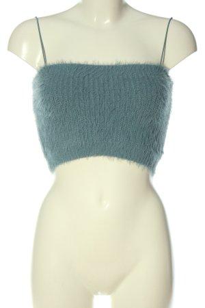 Zara Top corto blu stile casual