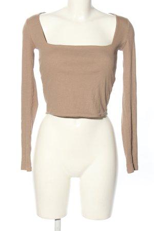 Zara Cropped Top nude Casual-Look
