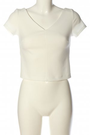 Zara Cropped Top white casual look