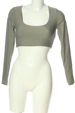 Zara Cropped Top hellgrau Casual-Look