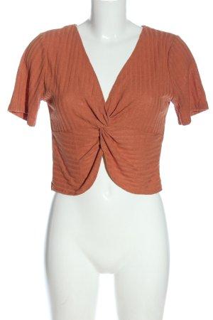 Zara Cropped Shirt hellorange Casual-Look