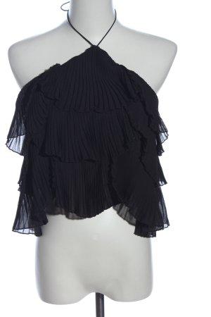 Zara Cropped Top schwarz Elegant