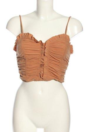 Zara Cropped Top hellorange Casual-Look