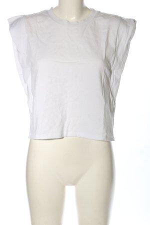Zara Top recortado blanco look casual