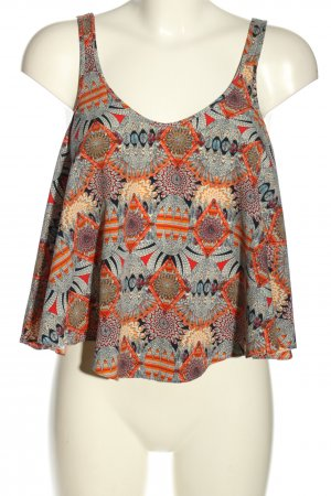 Zara Cropped Top abstraktes Muster Casual-Look
