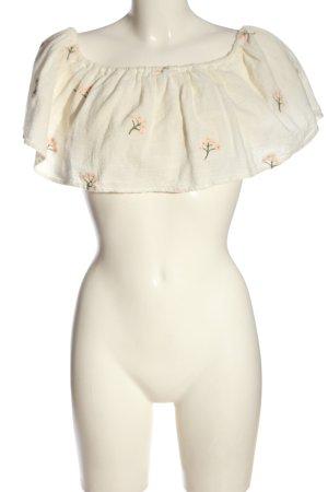 Zara Cropped Top Schriftzug gestickt Casual-Look