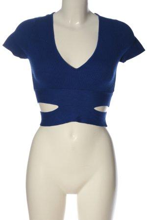 Zara Cropped Top blau Casual-Look
