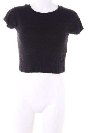 Zara Cropped Top braun Casual-Look