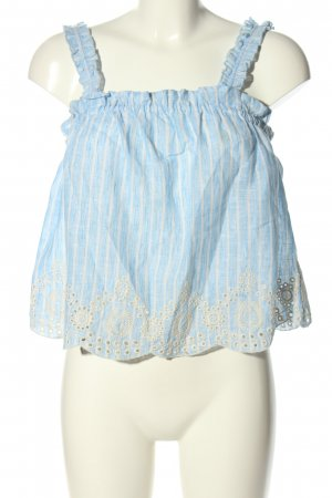 Zara Cropped Top white-blue striped pattern casual look