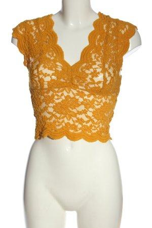 Zara Cropped Top hellorange Elegant