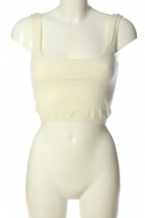 Zara Cropped Top wollweiß Casual-Look