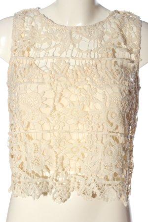 Zara Top recortado crema elegante