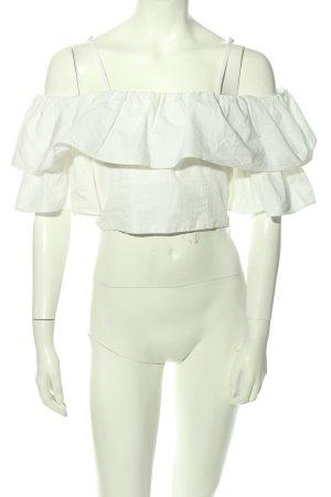 Zara Cropped Top weiß Elegant