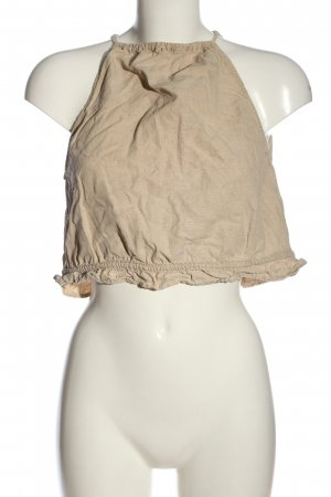 Zara Cropped Top creme Casual-Look