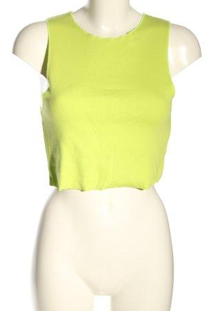 Zara Top recortado amarillo pálido look casual