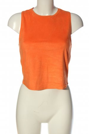 Zara Cropped Top hellorange Casual-Look
