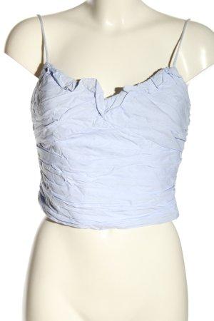 Zara Top o skróconym kroju niebieski W stylu casual