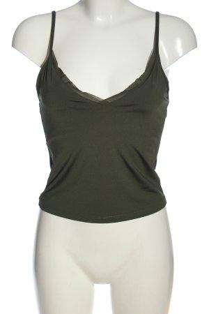 Zara Cropped Top khaki Casual-Look
