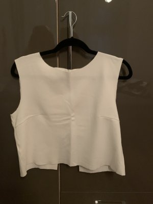 Zara Basic Crop-top blanc