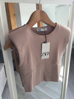 Zara Cropped top rose M