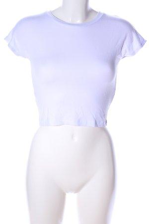 Zara Top corto bianco stile casual