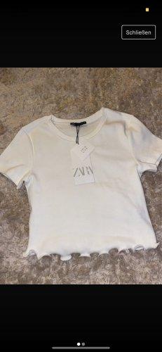 Zara Cropped Shirt white