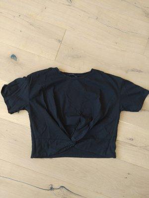 Zara Koszula o skróconym kroju czarny