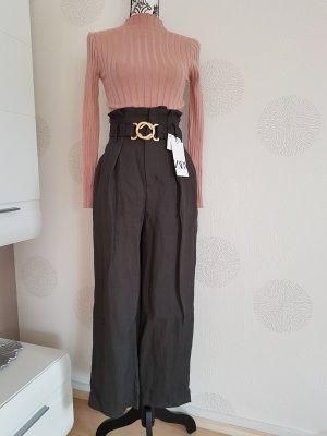 Zara Cullotte Hose Gr.34 XS graubraun