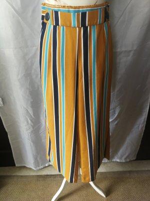 Zara Woman Falda pantalón de pernera ancha multicolor