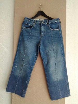 Zara Jeans boyfriend bleu clair coton