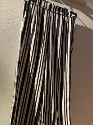 Zara Culotte in schwarz-weiß-blau