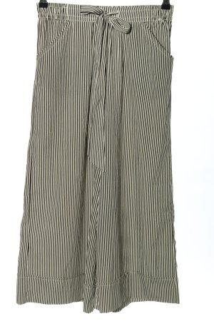 Zara Culotte noir-blanc cassé motif rayé style décontracté