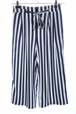 Zara Culottes weiß-blau Streifenmuster Casual-Look